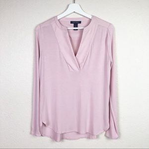 WHBM dusty rose pullover blouse SizeXS